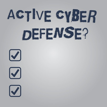 Writing note showing Active Cyber Defensequestion. Business photo showcasing acting in anticipation to oppose an attack Blank Color Rectangular Shape with Round Light Beam Glowing in Center Banque d'images