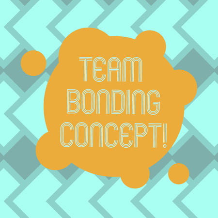Text sign showing Team Bonding Concept. Conceptual photo Improve workplace projects that involve teamwork Blank Deformed Color Round Shape with Small Circles Abstract photo Banco de Imagens - 116286815