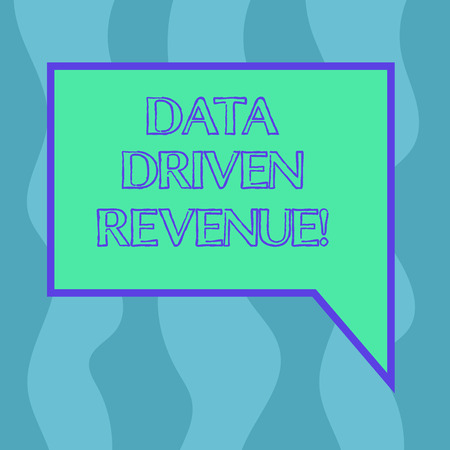 Conceptual hand writing showing Data Driven Revenue. Business photo showcasing makes strategic decisions based analysis interpretation Blank Deformed Color Round Shape with Small Circles