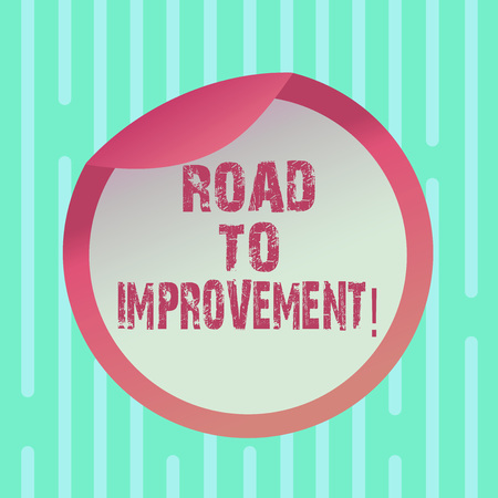 Word writing text Road To Improvement. Business concept for way that thing makes something better or yourself Bottle Packaging Blank Lid Carton Container Easy to Open Foil Seal Cover