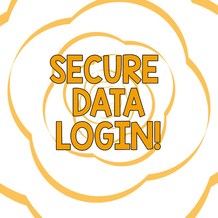 Writing note showing Secure Data Login. Business photo showcasing set of credentials used to authenticate user use service Paper Petals Cut Out Ribbon Strip Formed as Flowers in Repeat Pattern