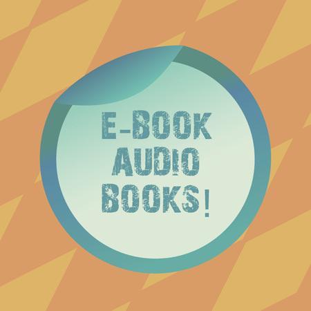 Text sign showing E Book Audio Books. Conceptual photo recording on CD or cassette of reading novel story news Bottle Packaging Blank Lid Carton Container Easy to Open Foil Seal Cover Stock Photo