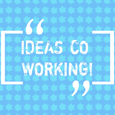 Word writing text Ideas Co Working. Business concept for use of working environment by showing who are self employed Rows of Small Stars in Seamless Endless Pattern photo for Invitation Ads