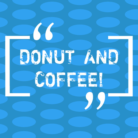 Handwriting text Donut And Coffee. Concept meaning common food and drink pairing in United States and Canada Columns of Small Color Oval Shape Geometric Pattern in Seamless Repetition Фото со стока