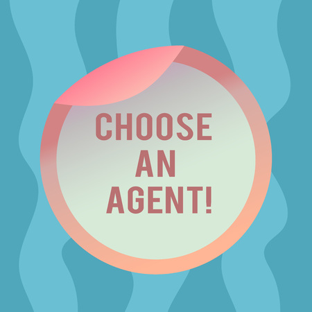 Conceptual hand writing showing Choose An Agent. Business photo text Choose someone who chooses decisions on behalf of you Bottle Packaging Lid Carton Container Easy to Open Cover