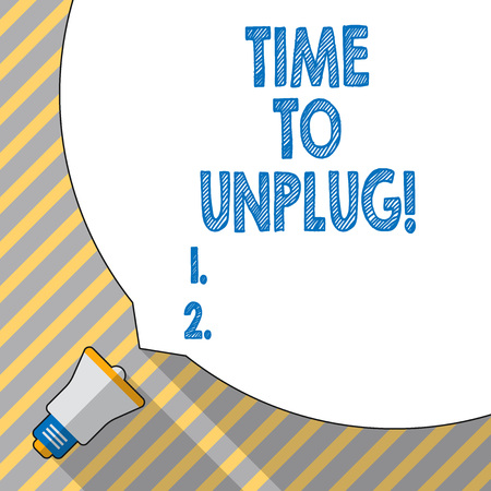 Text sign showing Time To Unplug. Conceptual photo Relaxing giving up work disconnecting from everything Stock Photo