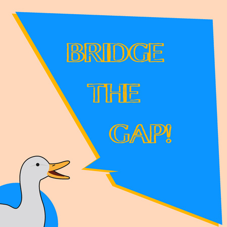 Word writing text Bridge The Gap. Business concept for Overcome the obstacles Challenge Courage Empowerment Archivio Fotografico