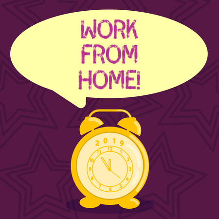 Writing note showing Work From Home. Business photo showcasing Freelance job working on your house convenient technology