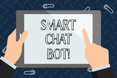 Text sign showing Smart Chat Bot. Conceptual photo Artificial intelligence chatting with machines robots