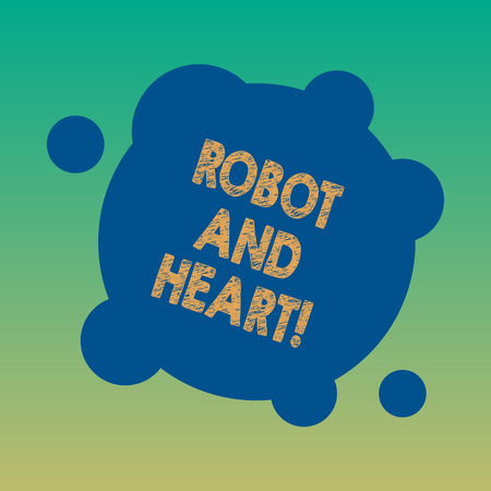 Handwriting text Robot And Heart. Concept meaning Sensitivity and care behind the machine technology Blank Deformed Color Round Shape with Small Circles Abstract photo Stock fotó