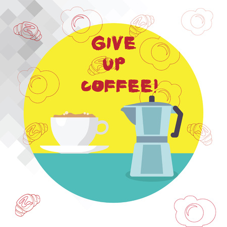 Conceptual hand writing showing Give Up Coffee. Business photo text Stop drinking hot beverages with caffeine healthy diet Stock Photo