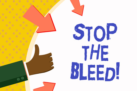 Word writing text Stop The Bleed. Business concept for Medical treatment for stopping the blood running from injury Stock Photo - 117171148