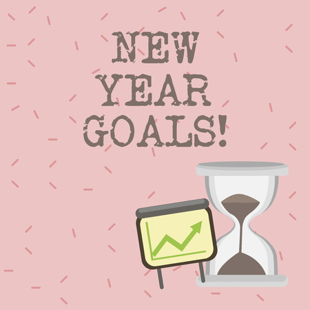 Text sign showing New Year Goals. Conceptual photo Resolutions for 365 days coming soon Motivation to change