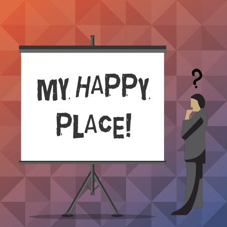 Handwriting text My Happy Place. Concept meaning Space where you feel comfortable happy relaxed inspired 版權商用圖片