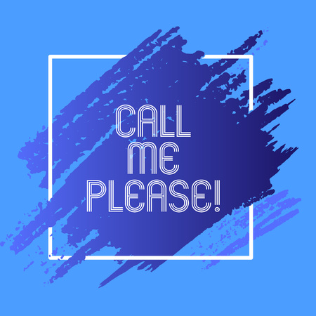 Word writing text Call Me Please. Business concept for Asking for communication by telephone to talk about something Reklamní fotografie