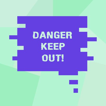Conceptual hand writing showing Danger Keep Out. Business photo showcasing Warning be alert stay away from this point safety sign Speech Bubble in Puzzle Piece Shape for Presentation Ads