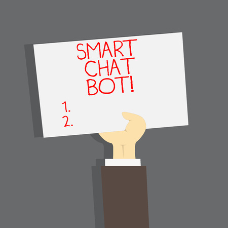 Conceptual hand writing showing Smart Chat Bot. Business photo text Artificial intelligence chatting with machines robots