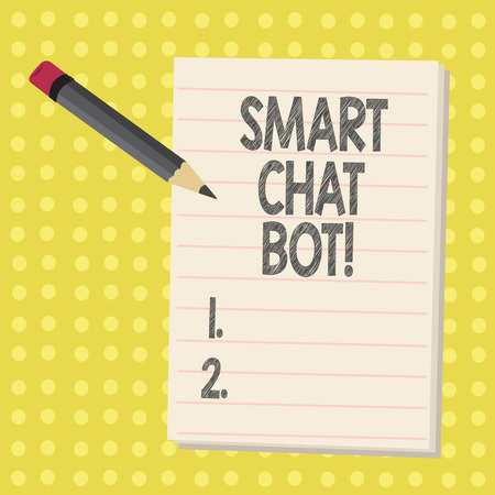 Word writing text Smart Chat Bot. Business concept for Artificial intelligence chatting with machines robots
