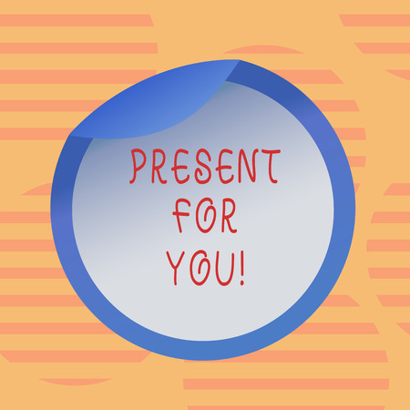 Word writing text Present For You. Business concept for To receive a gift surprise special occasion appreciation Bottle Packaging Blank Lid Carton Container Easy to Open Foil Seal Cover Stock Photo