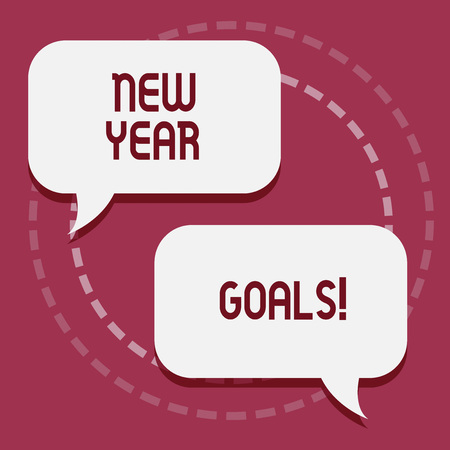 Conceptual hand writing showing New Year Goals. Business photo showcasing Resolutions for 365 days coming soon Motivation to change Stock Photo