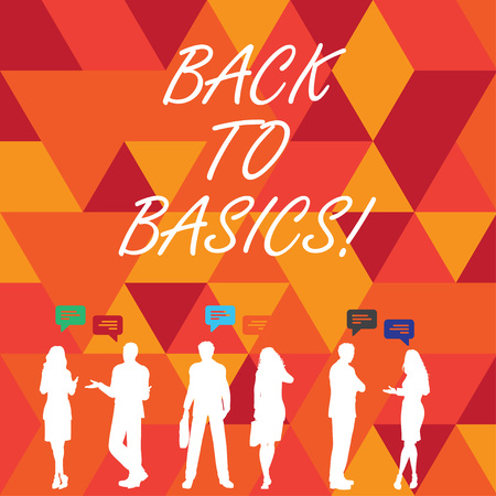 Word writing text Back To Basics. Business concept for Return simple things Fundamental Essential Primary basis Imagens