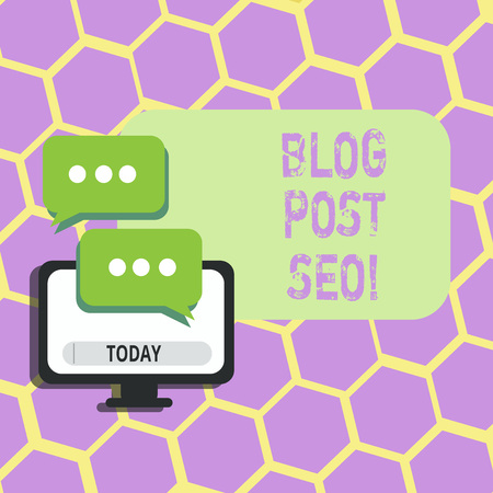 Text sign showing Blog Post Seo. Conceptual photo Search Engine Optimization applied to blogging social network