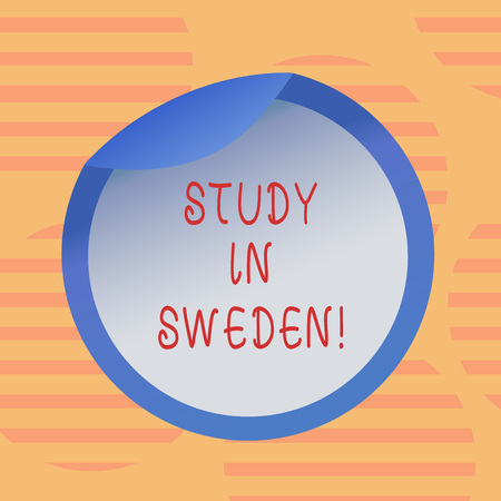 Word writing text Study In Sweden. Business concept for Travel to European country for educational purposes Bottle Packaging Blank Lid Carton Container Easy to Open Foil Seal Cover