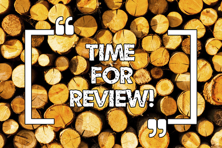 Word writing text Time For Review. Business concept for Evaluation Feedback Moment Perforanalysisce Rate Assess Wooden background vintage wood wild message ideas intentions thoughts 免版税图像