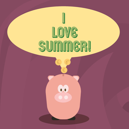 Word writing text I Love Summer. Business concept for Affection for sunny hot season of the year Vacations