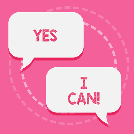 Word writing text Yes I Can. Business concept for Motivation to do something have the enough strength to keep going