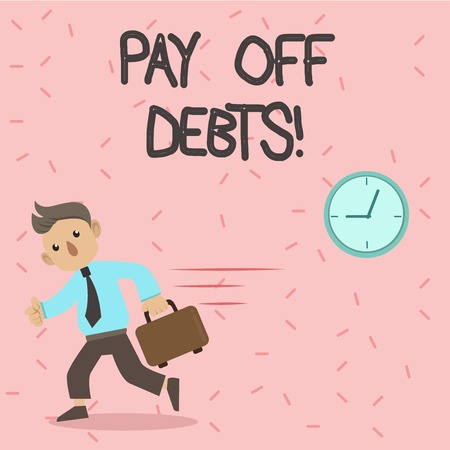 Text sign showing Pay Off Debts. Conceptual photo Payment for thing you have in debt Mortgages Investments