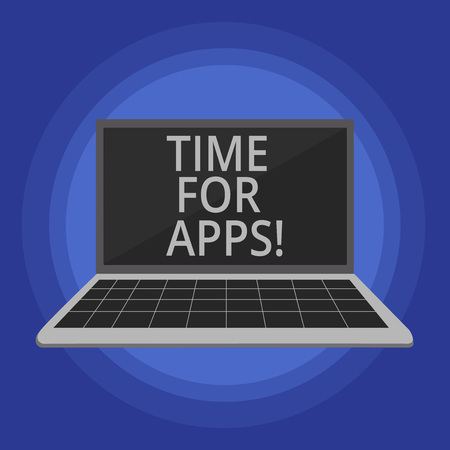 Text sign showing Time For Apps. Conceptual photo The best fullfeatured service that helps communicate faster Reklamní fotografie - 117846856