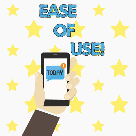 Word writing text Ease Of Use. Business concept for User friendly easy to operate simple technology for everybody