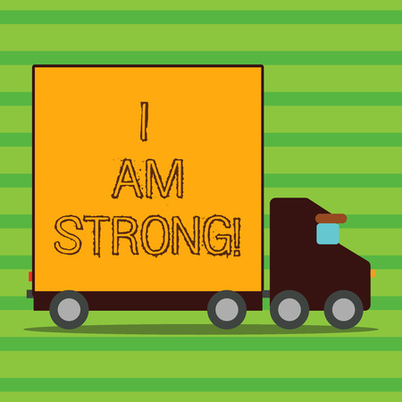 Word writing text I Am Strong. Business concept for Have great strength being healthy powerful achieving everything