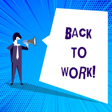 Handwriting text writing Back To Work. Concept meaning Returning to job routine end of vacations or time off