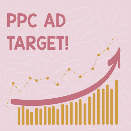 Word writing text Ppc Ad Target. Business concept for Pay per click advertising marketing strategies online campaign