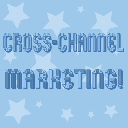Conceptual hand writing showing Cross Channel Marketing. Business photo showcasing Engaging with customer across every digital channel Stock Photo
