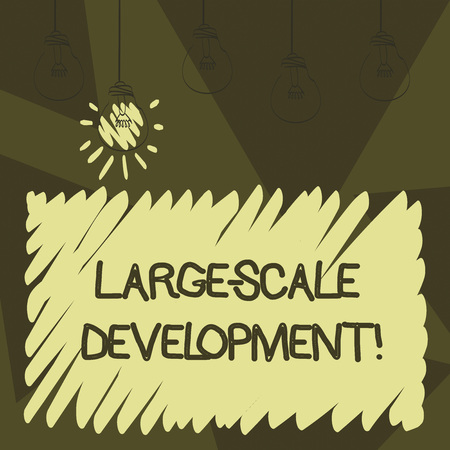 Word writing text Large Scale Development. Business concept for Develop on an extensive basis grow up a lot 스톡 콘텐츠