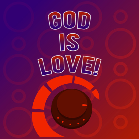 Text sign showing God Is Love. Conceptual photo Believing in Jesus having faith religious thoughts Christianity