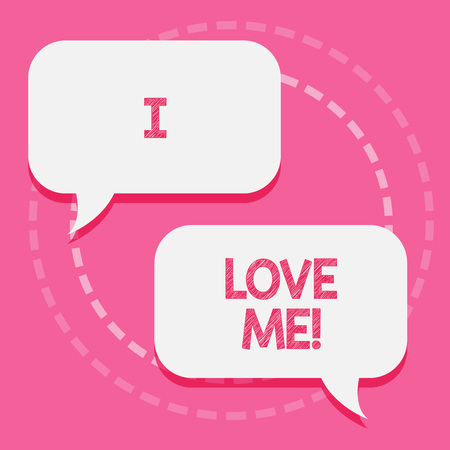 Word writing text I Love Me. Business concept for To have affection good feelings for oneself selfacceptance