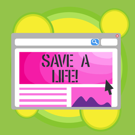 Writing note showing Save A Life. Business photo showcasing Help assistance saving someone from a medical problem or injury