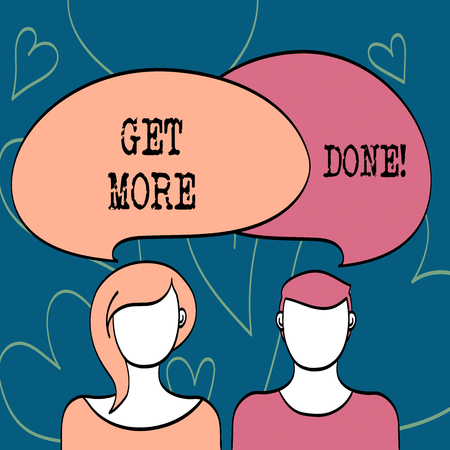Text sign showing Get More Done. Conceptual photo Checklist Organized Time Management Start Hard work Act