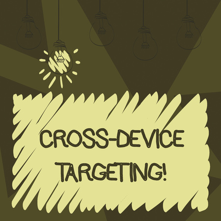 Word writing text Cross Device Targeting. Business concept for identifying delivering ads to a specific audience