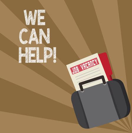 Word writing text We Can Help. Business concept for Let us support you give advice assistance service solutions