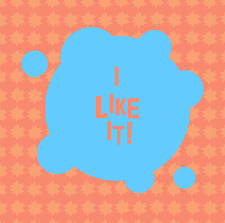 Writing note showing I Like It. Business photo showcasing To be pleased with something seeing thumbs up following network Blank Deformed Color Round Shape with Small Circles Abstract photo