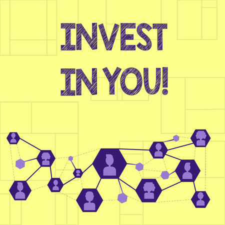 Writing note showingInvest In You. Business photo showcasing Take care of yourself buy things for you Motivation Inspire