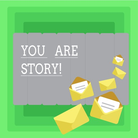 Word writing text You Are Story. Business concept for Your stories count and are important worth to tell everybody Reklamní fotografie