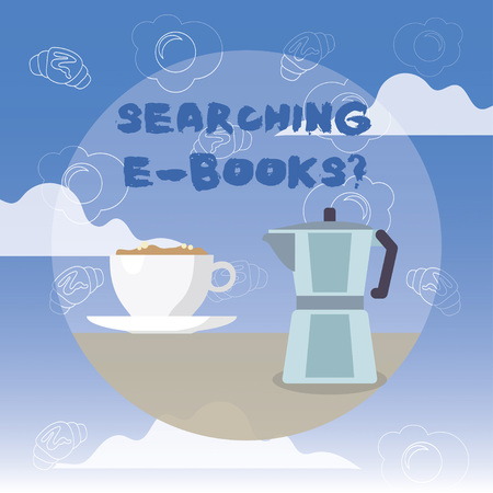 Word writing text Searching E Booksquestion. Business concept for Looking for online literature modern reading