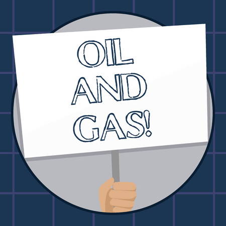 Conceptual hand writing showing Oil And Gas. Business photo text Exploration Extraction Refining Marketing petroleum products