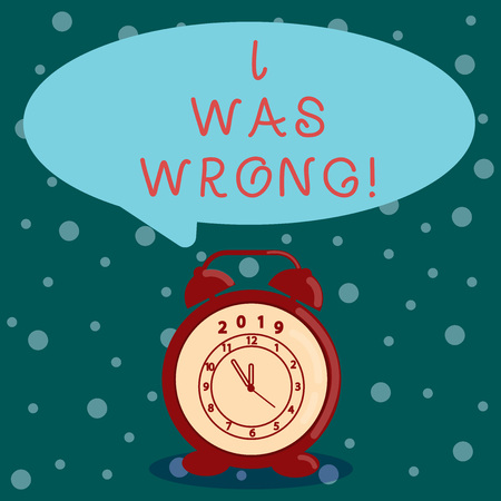 Word writing text I Was Wrong. Business concept for Acceptance of a mistake error Giving an apology Failure